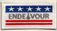 NASA Space Shuttle Endeavour (OV-105) Embroidered Flag Patch